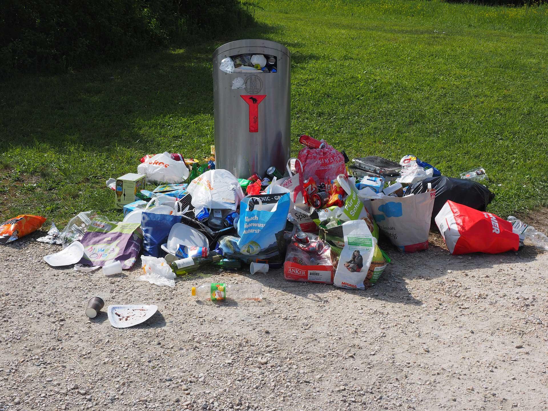 Vieze vuilnisbak